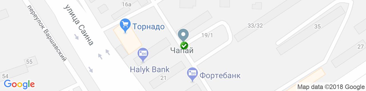 Карта объектов компании Эксперт Окна