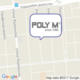 Поли М на карте